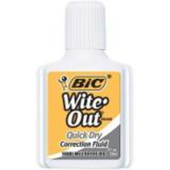 Bic WiteOut Brand Quick Dry Correction Fluid
