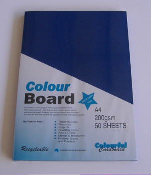 Colourboard Royal Blue A4 210x297mm 50/Pack
