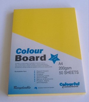 Colourboard Sunshine Yellow A4 210x297mm 50/Pack