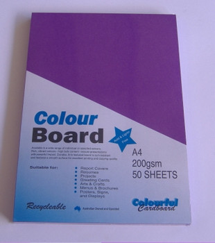 Colourboard Violet A4 210x297mm 50/Pack