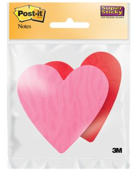 Post-it 7350-HRT Heart Super Sticky Notes