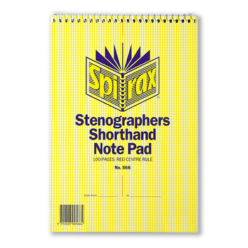 Spirax 566 Stenographers Book Top Opening 100 Page