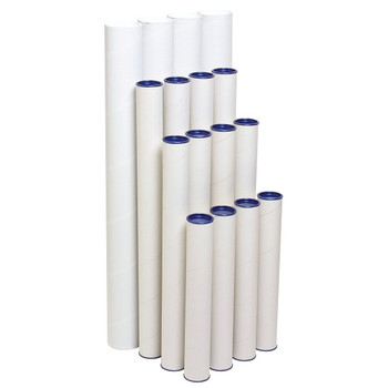 Marbig Enviro Mailing Tube 60 x 420mm pack of 4 White 841010