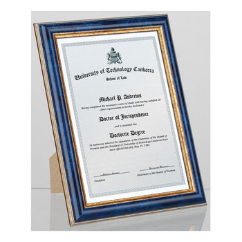 Carven Document & Picture Frame Blue & Gold A4
