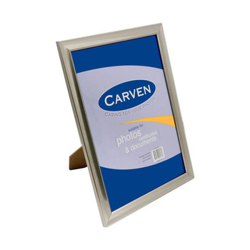 Carven Document & Picture Frame Brusher Silver A4