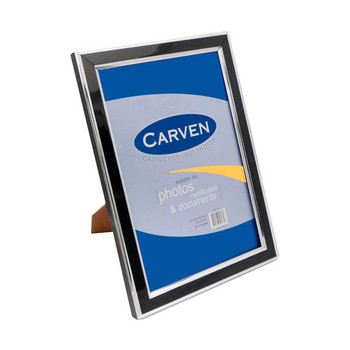 Carven Document & Picture Frame Black/ Silver A4