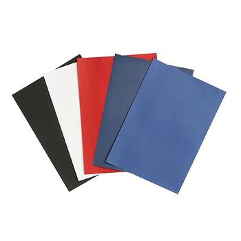 Rexel Leathergrain Binding Covers 300gsm Pk100 White