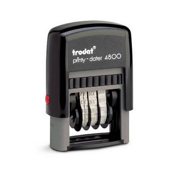 Trodat Self Inking 4800 Printy Dater 3.0mm Black T480099