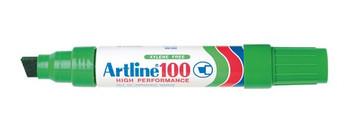 Artline 100 Permanent Maker 12mm Chisel Nib Green