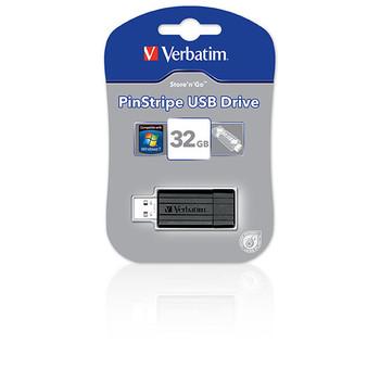 Verbatim 49064 Store'N'Go Pinstripe USB Drive 32GB Black