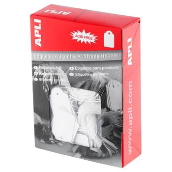 APLI Strung Tickets 36x53mm 500/Box
