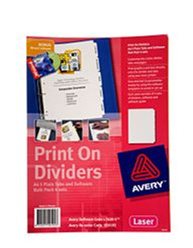 Avery L7420-5 White Print On Dividers 5 Tabs 920192