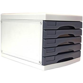 Metro 3475 Desktop Filing Drawers A4 5 Drawers Grey 234755
