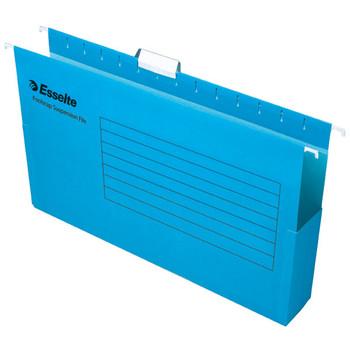 ESSELTE HANGING BOX SUSPENSION FILE 75MM PK25 BLUE