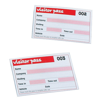 Rexel Visitors Book Refills 100 badge inserts White 900391A