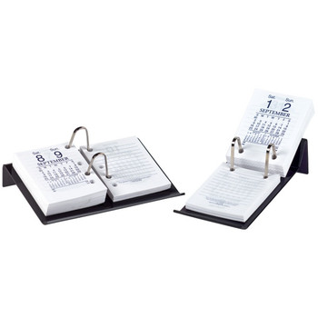 Marbig Calendar Stand Top Punched Acrylic Charcoal