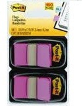 Post-it Flags Bright Pink Twin Pack - 680BP2