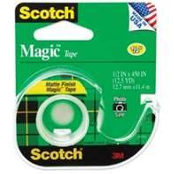 Scotch 104 Magic Tape with Dispenser 12.7mm x 11.4mm