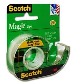 Scotch 105 Magic Tape with Dispenser 19mm x 7.62mm