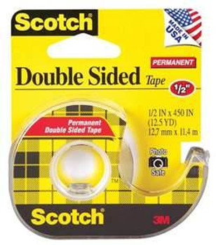 Scotch 137 Double Sided Tape With Dispenser 12.7mm x 11m