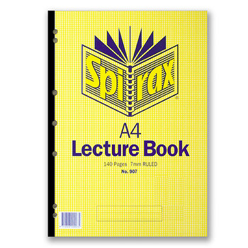 Spirax A4 907 Lecture Pad A4 140 Page