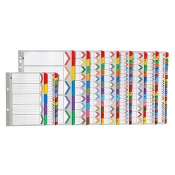 Marbig Coloured Dividers 1-10 Tab A4