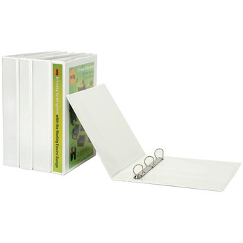 Marbig Enviro Insert Binder A4 4D Ring 25mm White 5404008