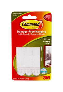 3M 17201 Command Medium Picture Hanging Strips