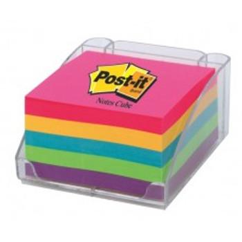 Post-it Note Cube & Dispenser 5431, 5 colours, 76x76mm