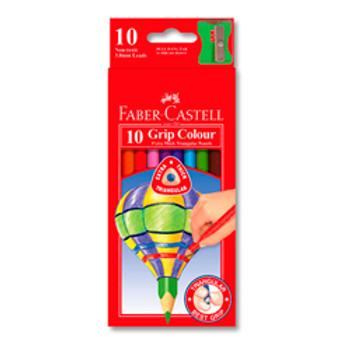 Faber-Castell Junior Triangular Extra Thick Colour Pencils 10/PK