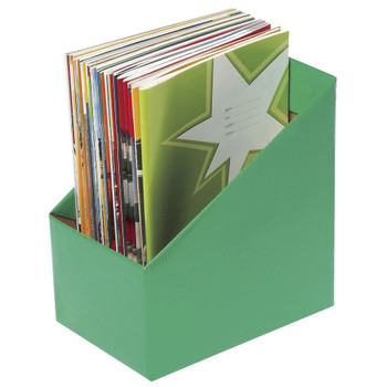 Marbig Book Box large Green Pack of 5