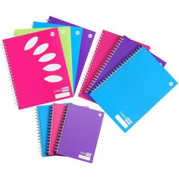 Marbig ColourHide Plus A4 Hardcover Notebooks 160 Page Purple