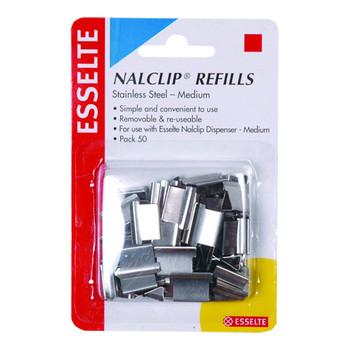 Esselte NalClip Refills Medium Steel Pk/50