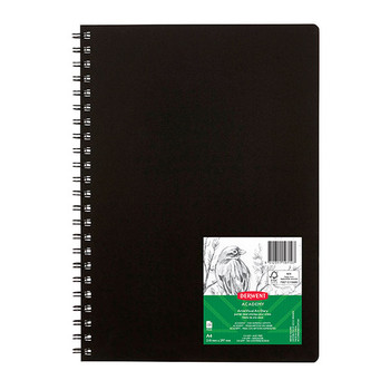 Derwent Academy Visual Art Diary 110gsm 120 Pages A4 Black