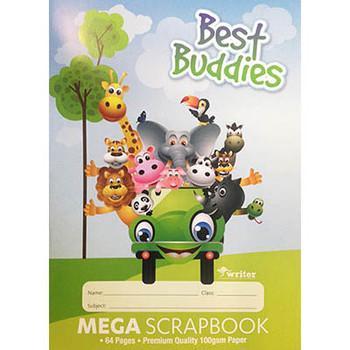 Best Buddies Mega Scrap Book 64 Page 100gsm