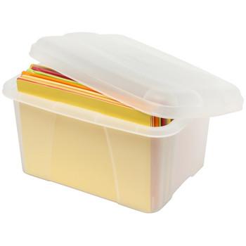 Crystalfile Mini Porta Box 20L Clear 460 (L) x 335 (W) x 255 (H) With Lid