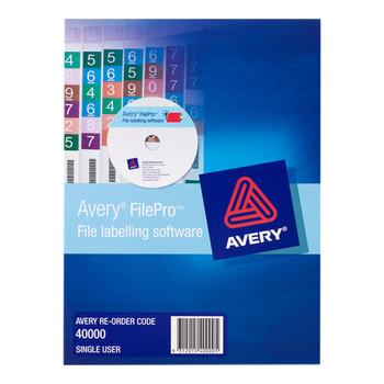 Avery Filepro Software Single User 40000