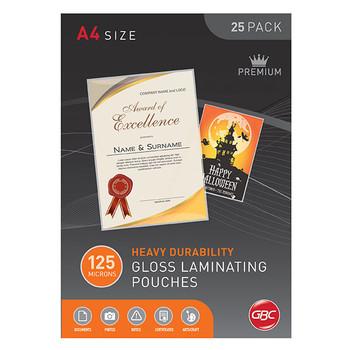 GBC Laminating Pouch A4 125 Micron PK25