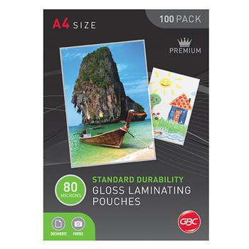 GBC Laminating Pouch A4 80 Micron PK100