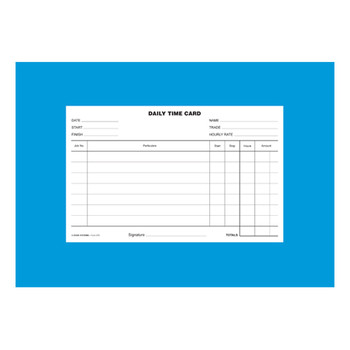 Zions Daily Time Card PK/250 DTC
