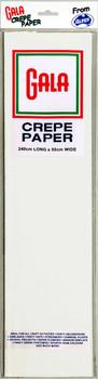 Crepe Paper Gala 11 White 240cm x 50cm Pk12 501011