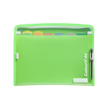 ColourHide® ZipIt PP Expanding File FC 7 Pocket- Green