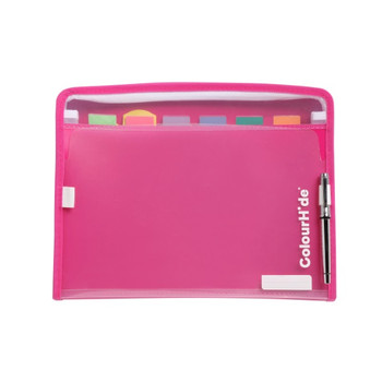 ColourHide® ZipIt PP Expanding File FC 7 Pocket- Pink