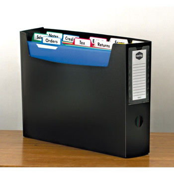 Marbig Portable Organiser File with Files and Tabs A4 Black