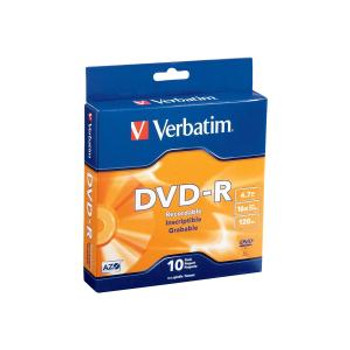Verbatim® DVD-R - 4.7GB Spindle 16X (Pack of 10)