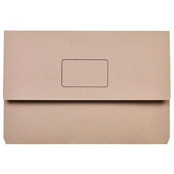 Marbig Slimpick Document Wallets Foolscap Buff Pack Of 50