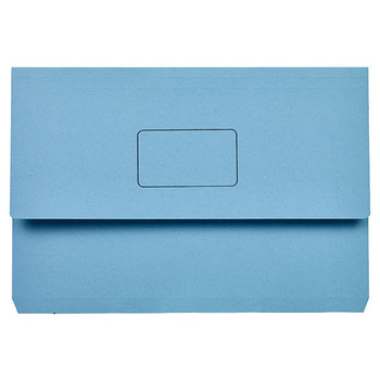 Marbig Slimpick Document Wallets Foolscap Blue Pack Of 50
