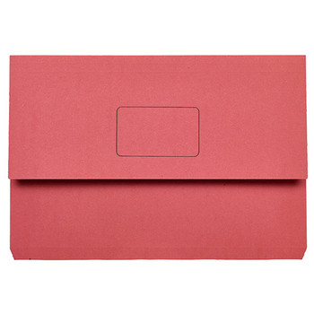 Marbig Slimpick Document Wallets Foolscap Red Pack Of 50