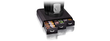 Esselte Anchor 42 Capacity Coffee Pod Triple Drawers Black