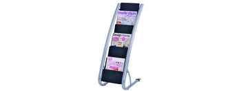 ALBA Floor Brochure Holder 6 Tier Single